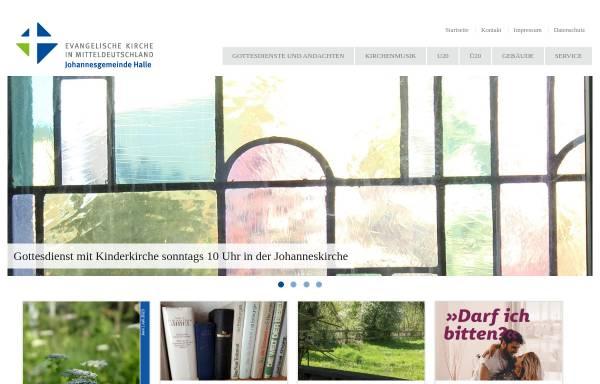 Vorschau von www.johanneskirche-halle.de, Halle, Johanneskirche