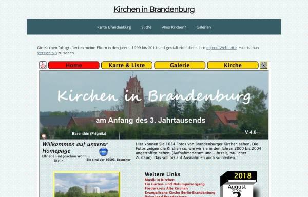 Vorschau von www.aw-ew.de, Kirchen aus der Mark Brandenburg