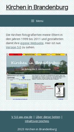 Vorschau der mobilen Webseite www.aw-ew.de, Kirchen aus der Mark Brandenburg