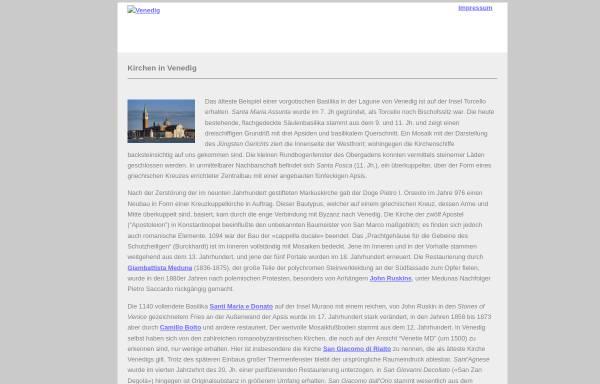 Vorschau von venedig.jc-r.net, Kirchen in Venedig