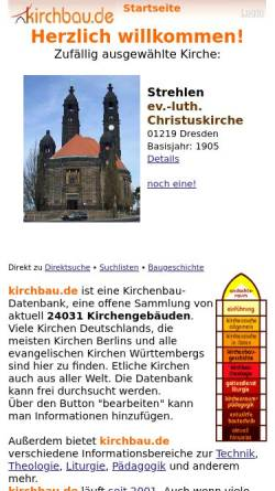 Vorschau der mobilen Webseite www.kirchbau.de, Kirchenbau