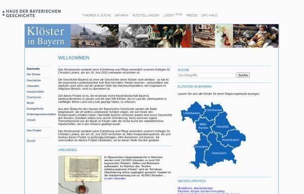 Vorschau von www.hdbg.eu, Klöster in Bayern