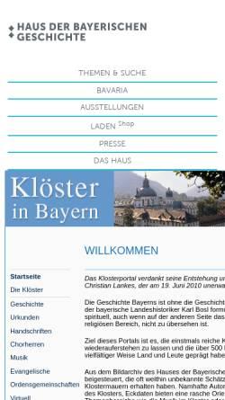 Vorschau der mobilen Webseite www.hdbg.eu, Klöster in Bayern
