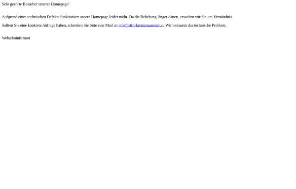 Vorschau von stift-kremsmuenster.net, Kremsmünster, Stift