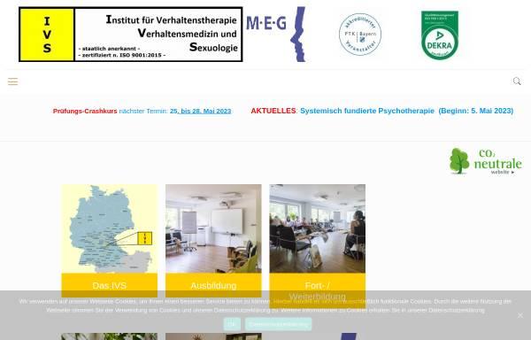 Vorschau von www.ivs-nuernberg.de, Institut für Verhaltenstherapie, Verhaltensmedizin und Sexuologie
