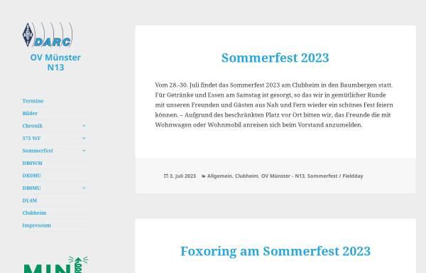 Vorschau von www.dk0mu.de, Deutscher Amateur Radio Club e.V., DOK N13
