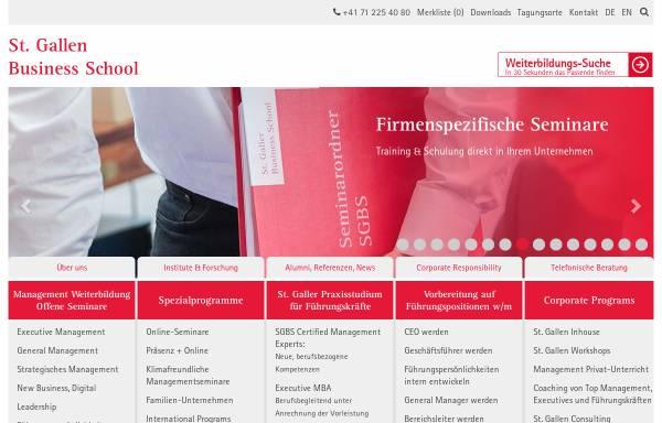 Vorschau von www.sgbs.ch, St. Galler Business School