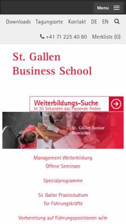 Vorschau der mobilen Webseite www.sgbs.ch, St. Galler Business School