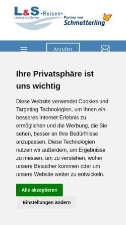 Vorschau der mobilen Webseite www.ls-reisen.de, L&S Reisen