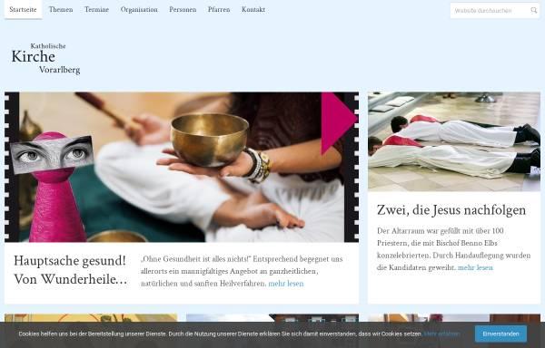 Vorschau von www.kath-kirche-vorarlberg.at, Katholische Kirche Vorarlberg