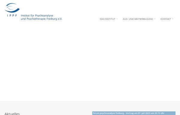 Vorschau von www.ippf-freiburg.de, IPPF - Institut für Psychoanalyse und Psychotherapie Freiburg e.V.