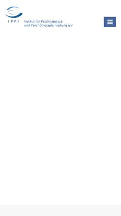 Vorschau der mobilen Webseite www.ippf-freiburg.de, IPPF - Institut für Psychoanalyse und Psychotherapie Freiburg e.V.