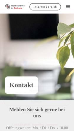 Vorschau der mobilen Webseite www.psychoanalysehannover.de, Lehrinstitut für Psychoanalyse und Psychotherapie e.V. Hannover (DPG)