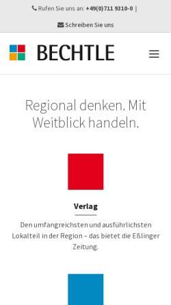 Vorschau der mobilen Webseite www.bechtle-online.de, Bechtle Verlag&Druck