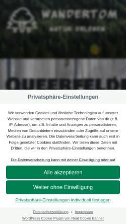 Vorschau der mobilen Webseite queerwandern.de, Queerwandern