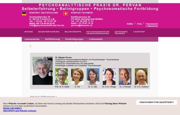 Vorschau von www.psychosomatik-pervan.de, Psychosomatik Pervan
