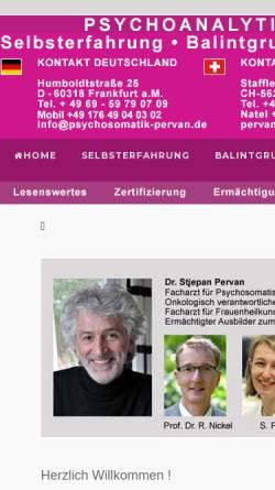 Vorschau der mobilen Webseite www.psychosomatik-pervan.de, Psychosomatik Pervan