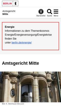 Vorschau der mobilen Webseite www.berlin.de, Amtsgericht Mitte