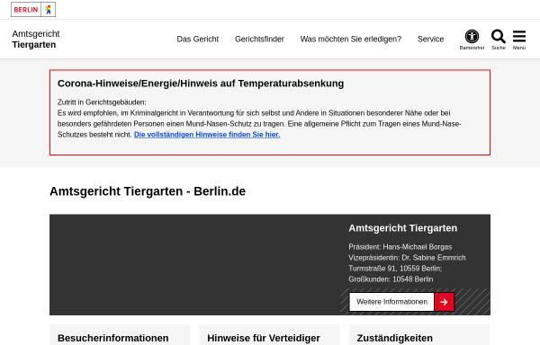 Vorschau von www.berlin.de, Amtsgericht Tiergarten