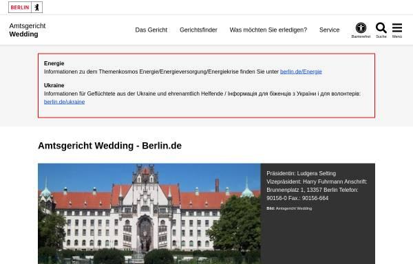 Vorschau von www.berlin.de, Amtsgericht Wedding