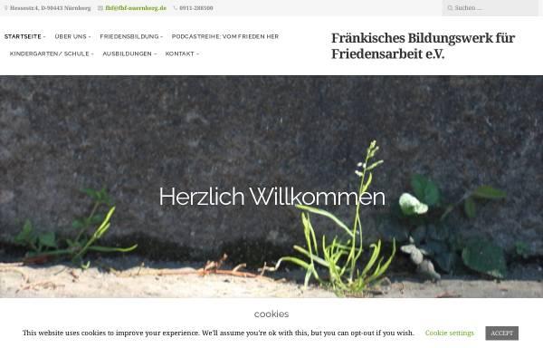 Vorschau von www.fbf-nuernberg.de, Fränkisches Bildungswerk für Friedensarbeit e.V.