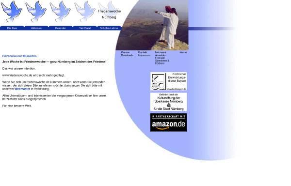Vorschau von www.friedenswoche.de, Friedenswoche in Nürnberg