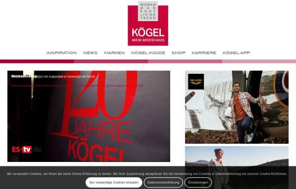 Vorschau von modehaus-koegel.de, Modehaus Koegel
