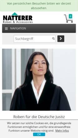Vorschau der mobilen Webseite www.robe-elite.de, Profi Design Natterer GmbH