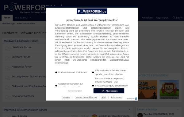 Vorschau von powerforen.de, Powerforen.de