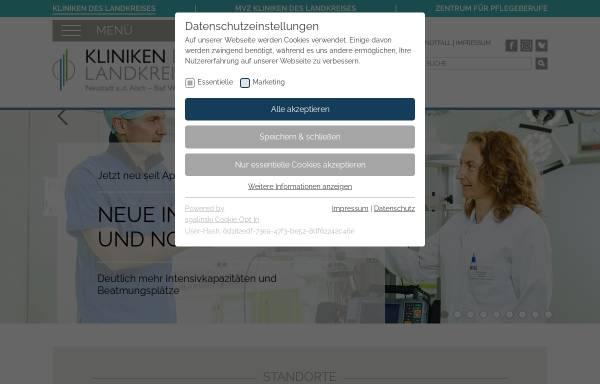 Vorschau von www.kliniken-nea.de, Kliniken des Landkreises Neustadt a.d. Aisch - Bad Windsheim