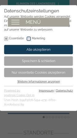 Vorschau der mobilen Webseite www.kliniken-nea.de, Kliniken des Landkreises Neustadt a.d. Aisch - Bad Windsheim