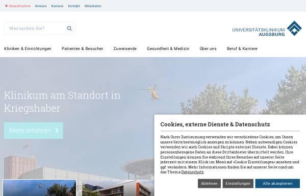 Vorschau von www.klinikum-augsburg.de, Klinikum Augsburg