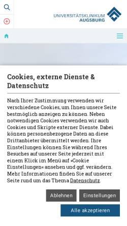 Vorschau der mobilen Webseite www.klinikum-augsburg.de, Klinikum Augsburg