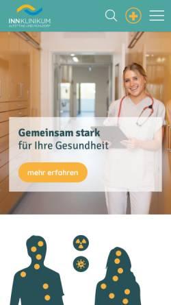 Vorschau der mobilen Webseite www.krankenhaus-altoetting.de, Kreiskrankenhaus Alt/Neuötting