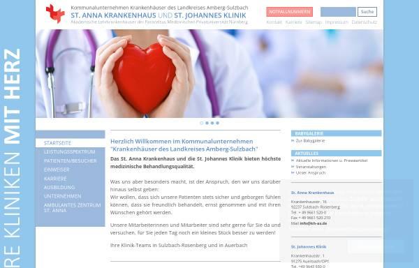 Vorschau von www.kh-as.de, St. Anna Krankenhaus Sulzbach-Rosenberg