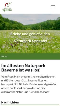 Vorschau der mobilen Webseite www.naturpark-spessart.de, Naturpark Spessart