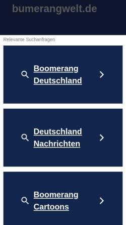 Vorschau der mobilen Webseite www.bumerangwelt.de, Bumerang Welt