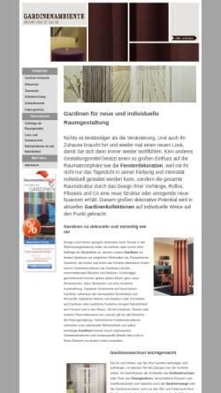 Vorschau der mobilen Webseite gardinen-ambiente.de, Gardinen Ambiente Hartenstein