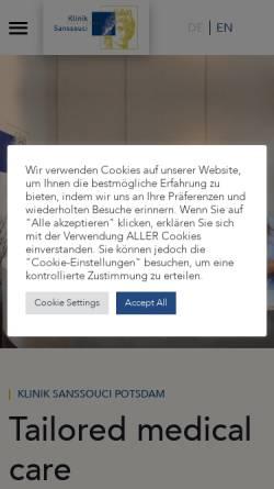 Vorschau der mobilen Webseite www.kliniksanssouci.de, Klinik Sanssouci