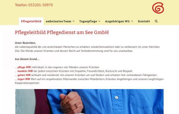 Vorschau von www.pflegedienst-am-see.de, Pflegedienst am See GmbH