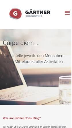 Vorschau der mobilen Webseite www.gaertner-consulting.de, Gärtner Consulting, Inh. Karl-Heinz Gärtner
