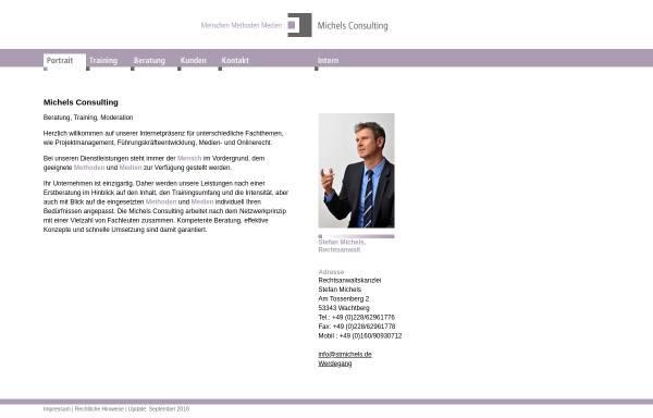 Vorschau von www.stmichels.de, Stefan Michels - Berater, Trainer und Rechtsanwalt