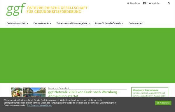 Vorschau von www.gesundheitsfoerderung.at, Österr. Gesellschaft für Gesundheitsförderung (GGF)