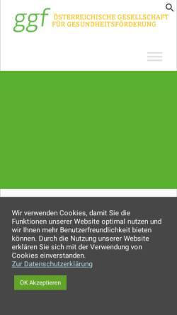 Vorschau der mobilen Webseite www.gesundheitsfoerderung.at, Österr. Gesellschaft für Gesundheitsförderung (GGF)