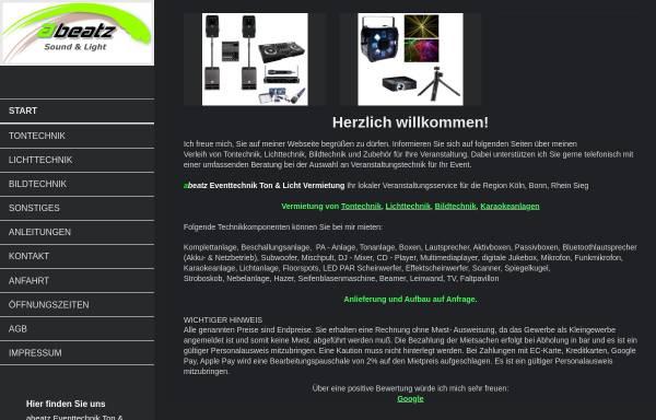 Vorschau von abeatz.de, Marc Porstner abeatz DJ Service