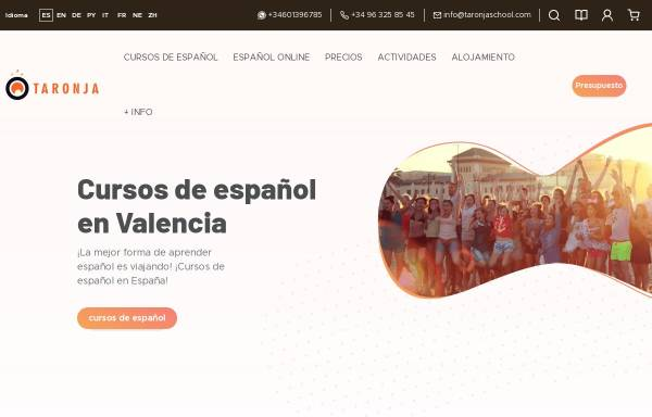Vorschau von www.spanish-in-spain.es, Valencia: Taronja School