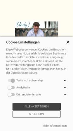 Vorschau der mobilen Webseite www.andyj.de, Andy J