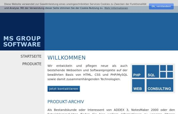 Vorschau von www.msgroup.de, Maik Strohfeldt, MS Group Software