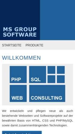 Vorschau der mobilen Webseite www.msgroup.de, Maik Strohfeldt, MS Group Software