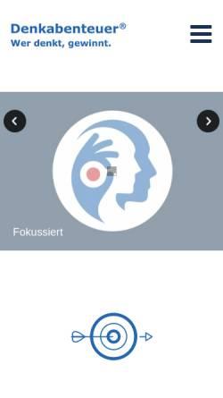 Vorschau der mobilen Webseite www.denkabenteuer.de, Denkabenteuer®